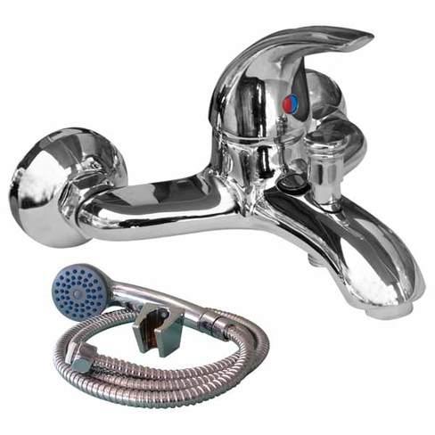 Смесител стенен за вана-душ с аксесоари 6036900