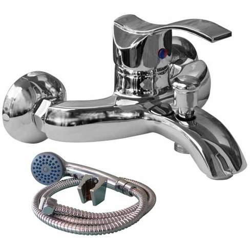 Смесител стенен за вана-душ с аксесоари 6037200