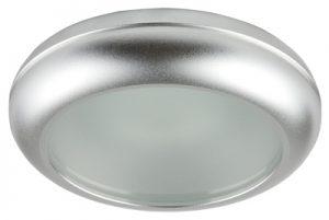 Осветително тяло луна WP MR16-44 алуминиева с матирано стъкло сатен хром
