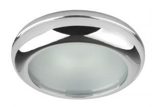 Осветително тяло луна WP MR16-44 алуминиева с матирано стъкло хром