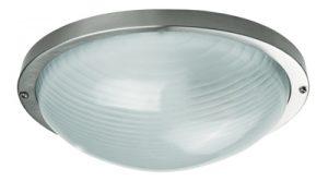Осветително тяло ELIPTIK L алуминий стъкло E27 60W IP44 inox Real
