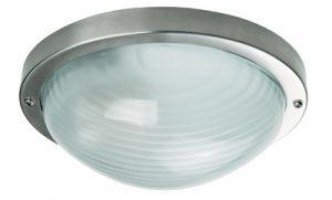 Осветително тяло ELIPTIK S алуминий стъкло E27 60W IP44 inox Real