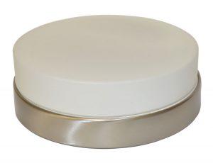 Осветително тяло LED плафон PAMELA Ф230 IP44 12W сатен никел опал Desonia