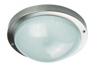Осветително тяло RING L алуминий стъкло E27 60W IP44 Ф256 inox Real