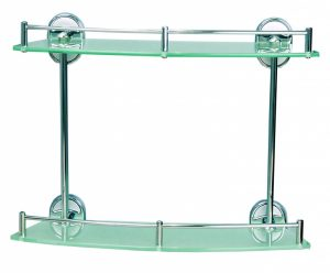 Стъклена полица двойна Ариел 30922