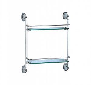 Стъклена полица двойна 9802