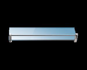 Стъклена полица с борд 40 см. матирана 06 44-99