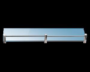 Стъклена полица с борд 50 см. матирана 0655-99