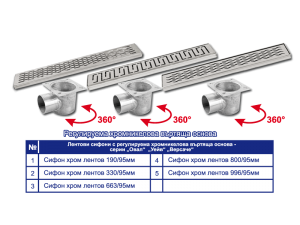 Линейни сифони по размер на клиента