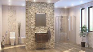 Шкаф за баня комплект PVC Авангард