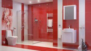 Шкаф за баня комплект PVC Кристин