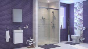 Шкаф за баня комплект PVC Лара