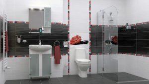 Шкаф за баня комплект PVC Лотос
