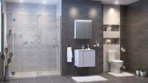 Шкаф за баня комплект PVC Мареа