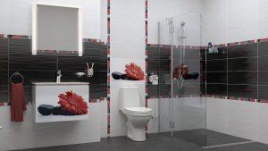 Шкаф за баня комплект PVC Принт