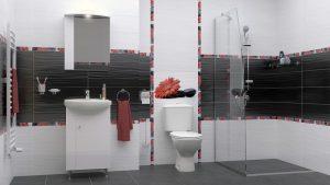 Шкаф за баня комплект PVC Стела