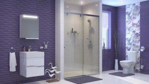 Шкаф за баня комплект PVC Томи