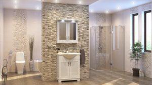 Шкаф за баня комплект PVC Хера