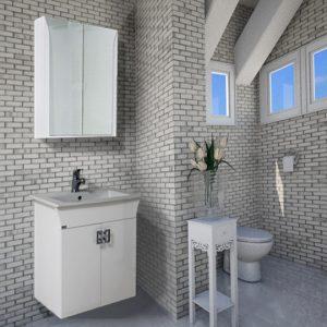 Шкаф за баня PVC Линеа 65см