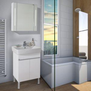 Шкаф за баня PVC Лорена 60см