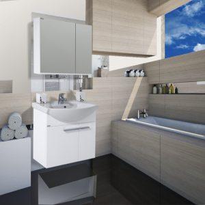 Шкаф за баня PVC Маги 60см
