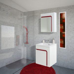 Шкаф за баня PVC Тереза 60см