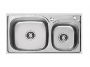 Кухненска мивка алпака двукоритна - 65LA W7943