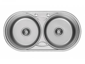 Кухненска мивка алпака двукоритна 65LA W8343