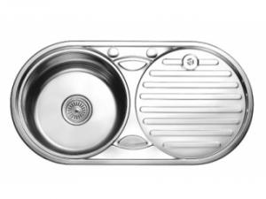 Кухненска мивка алпака кръгла с плот 65LA W8343A