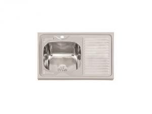 Кухненска мивка алпака с ляв плот 65DA 8060L