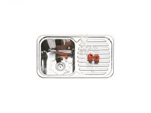 Кухненска мивка алпака с ляв плот 65DA 8248L