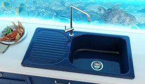 Кухненска мивка 212 с десен-ляв плот