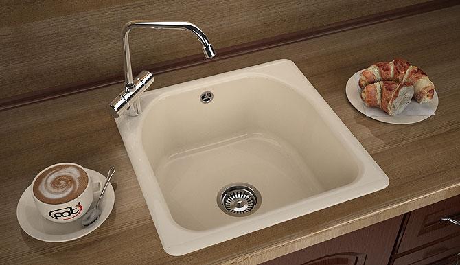 Кухненска мивка 208 граниксит 51х51см.  дълбочина 21 см.