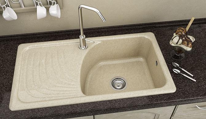 Кухненска мивка 203 граниксит 90х49 см. дълбочина 21 см. ляв плот