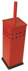 Четка за WC стояща квадратна червена 8298R