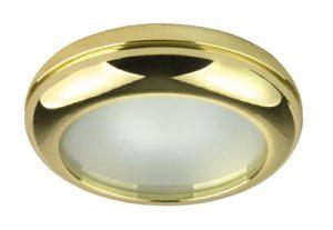 Осветително тяло луна WP MR16-44 алуминиева с матирано стъкло злато