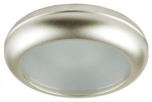 Осветително тяло луна WPMR16-44 алуминиева с матирано стъкло сатен никел MR 16 IP44 Lightex