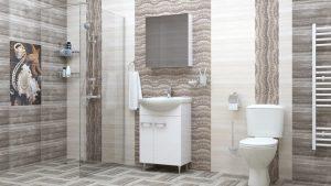 Шкаф за баня комплект PVC Атила