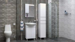 Шкаф за баня комплект PVC Ирис