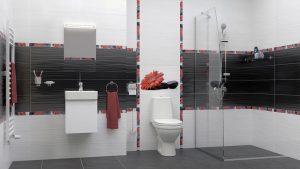 Шкаф за баня комплект PVC Кети