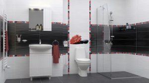 Шкаф за баня комплект PVC Рила