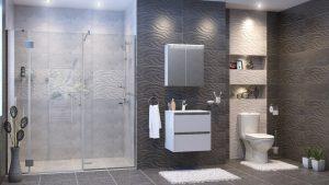 Шкаф за баня комплект PVC Стайл