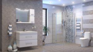 Шкаф за баня комплект PVC Степ