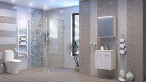 Шкаф за баня комплект PVC Феникс