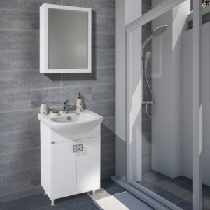 Шкаф за баня PVC Ира 55см