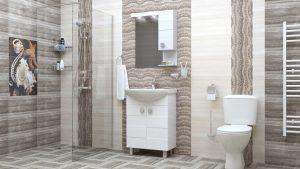 Шкаф за баня PVC Ирина