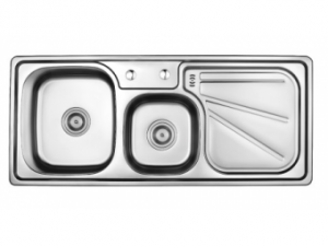 Кухненска мивка алпака двукоритна 65LA W11248